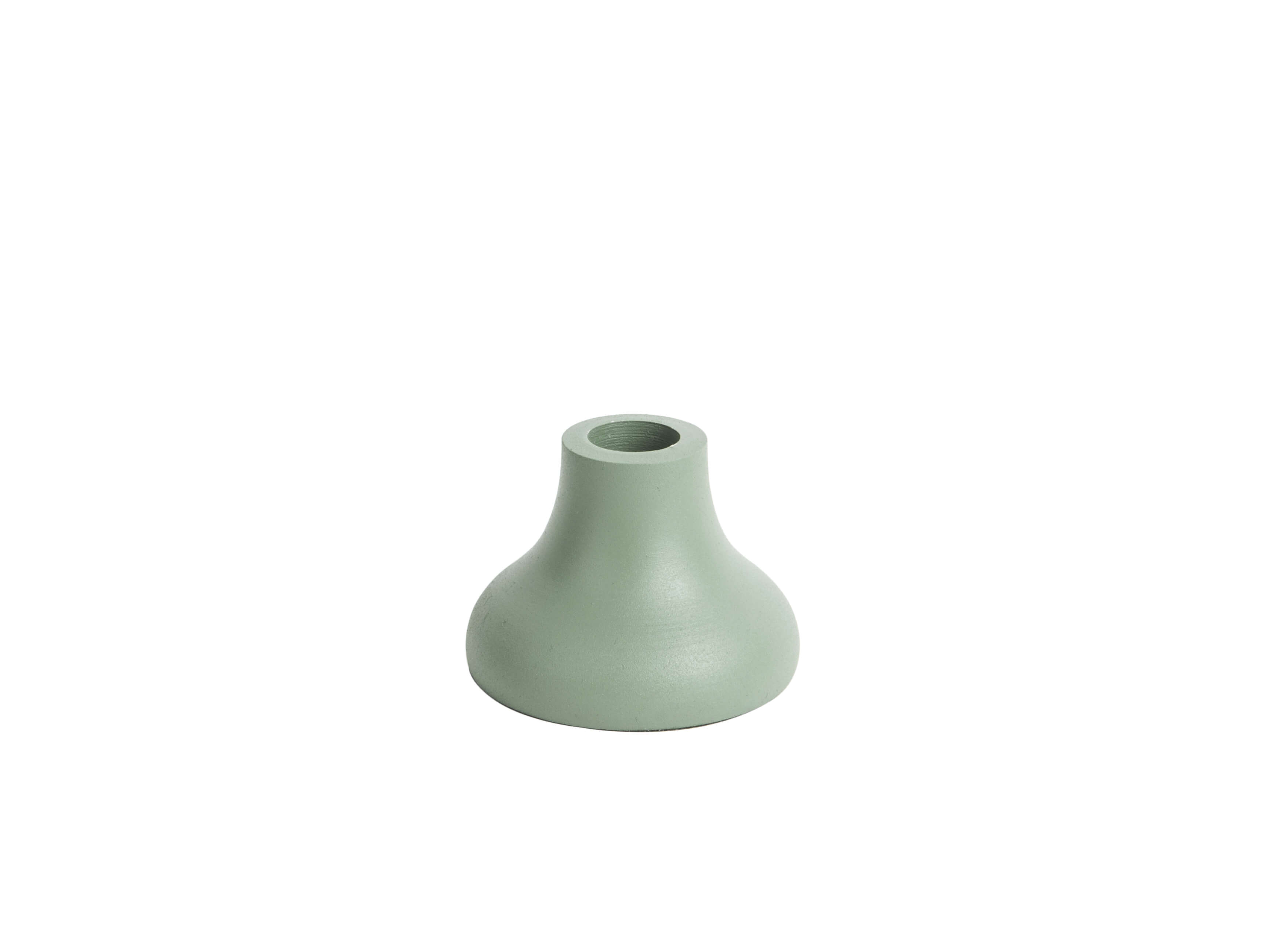 Present Time Candle Holder Nimble Round Aluminium Grayed Jade