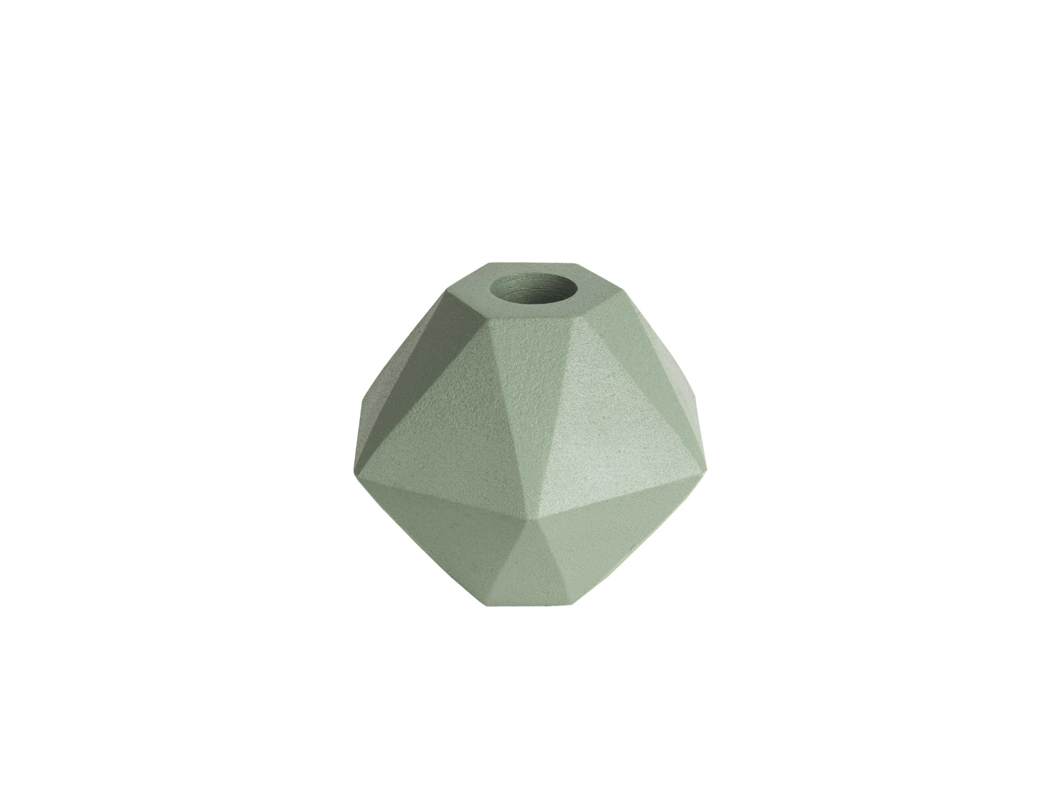 Present Time Candle Holder Nimble Hexagon Aluminium Grayed Jade