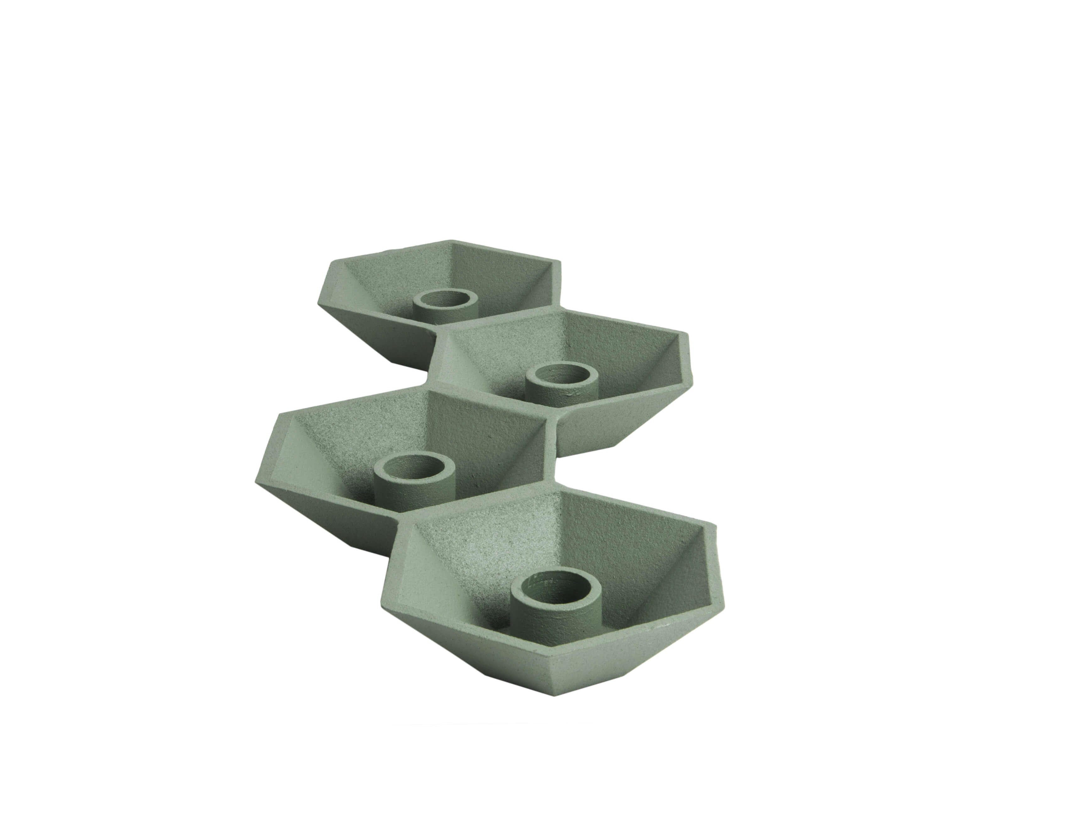 Present Time Candle Holder Nimble Multiple Aluminium Grayed Jade