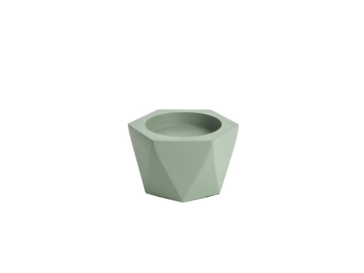 Present Time Pillar Candle Holder Nimble Aluminium Grayed Jade