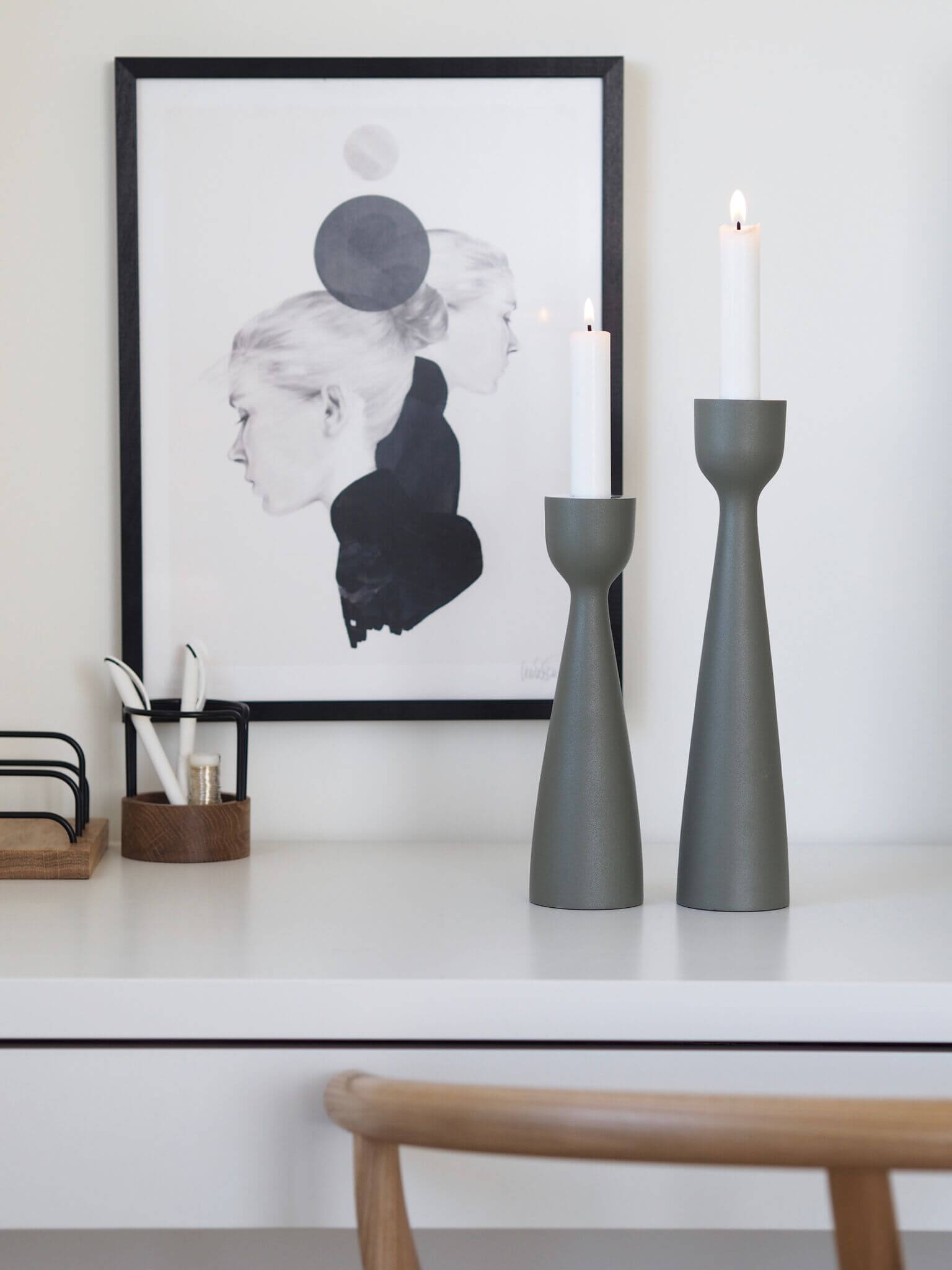 Coming Home Olive Urban Candlestick 24cm