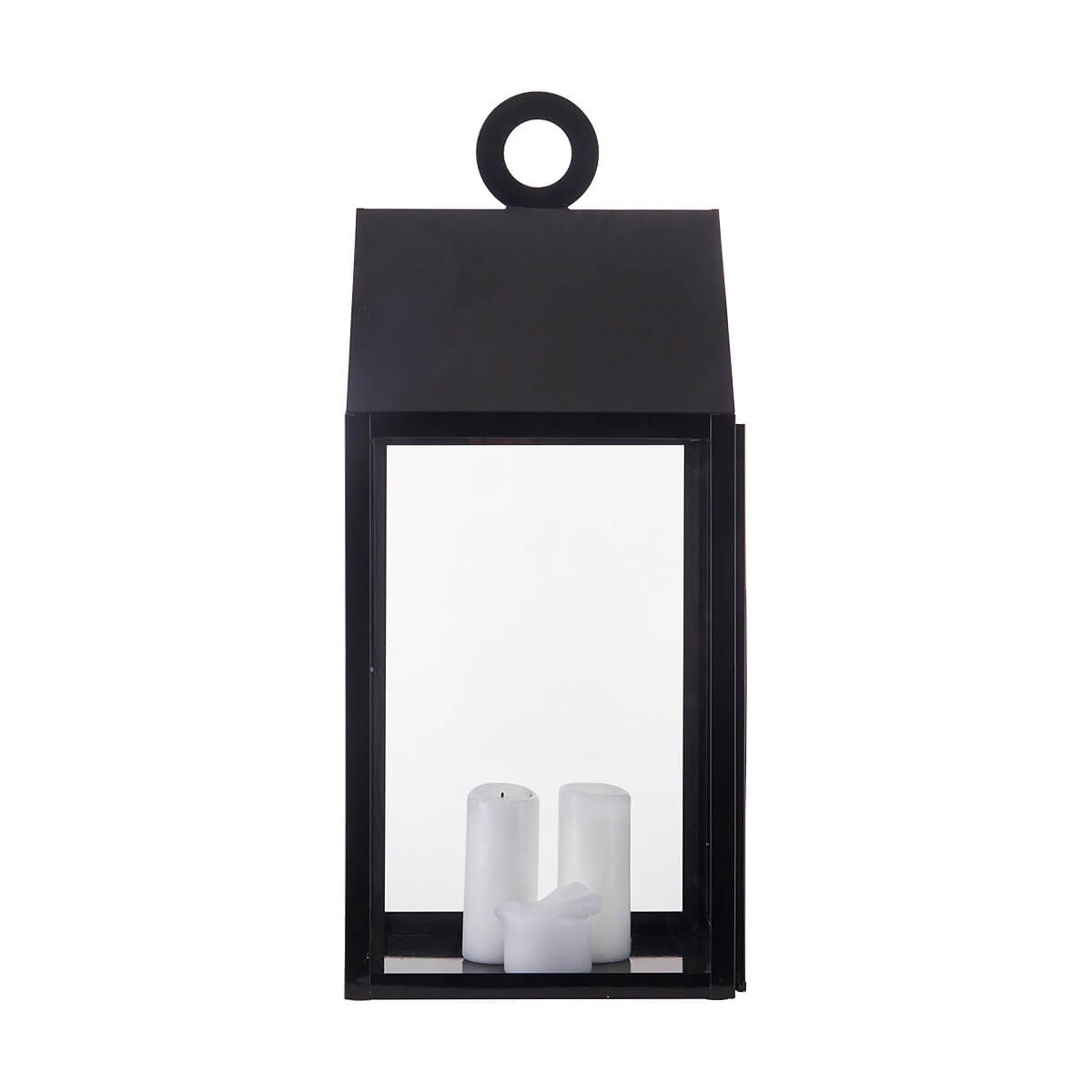 House Doctor Large Ring Lantern Black