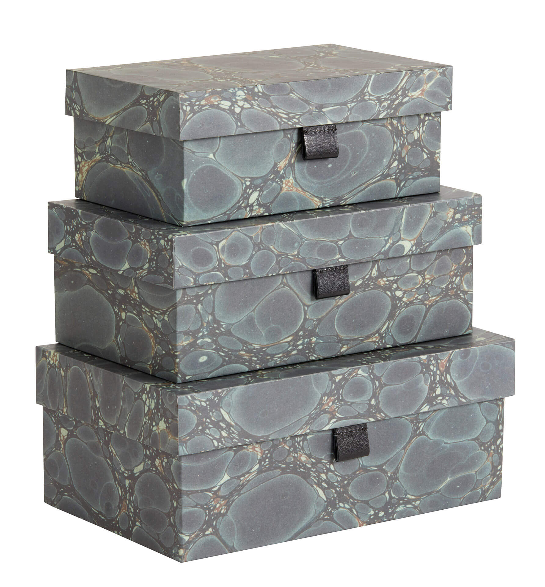 Nordal Storage Boxes Green Mosaic - set of 3