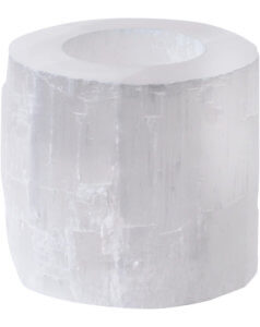 Libra Natural Selenite Tealight Holder Small