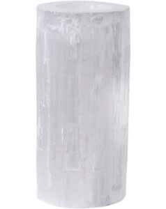 Libra Natural Selenite Tealight Holder Large