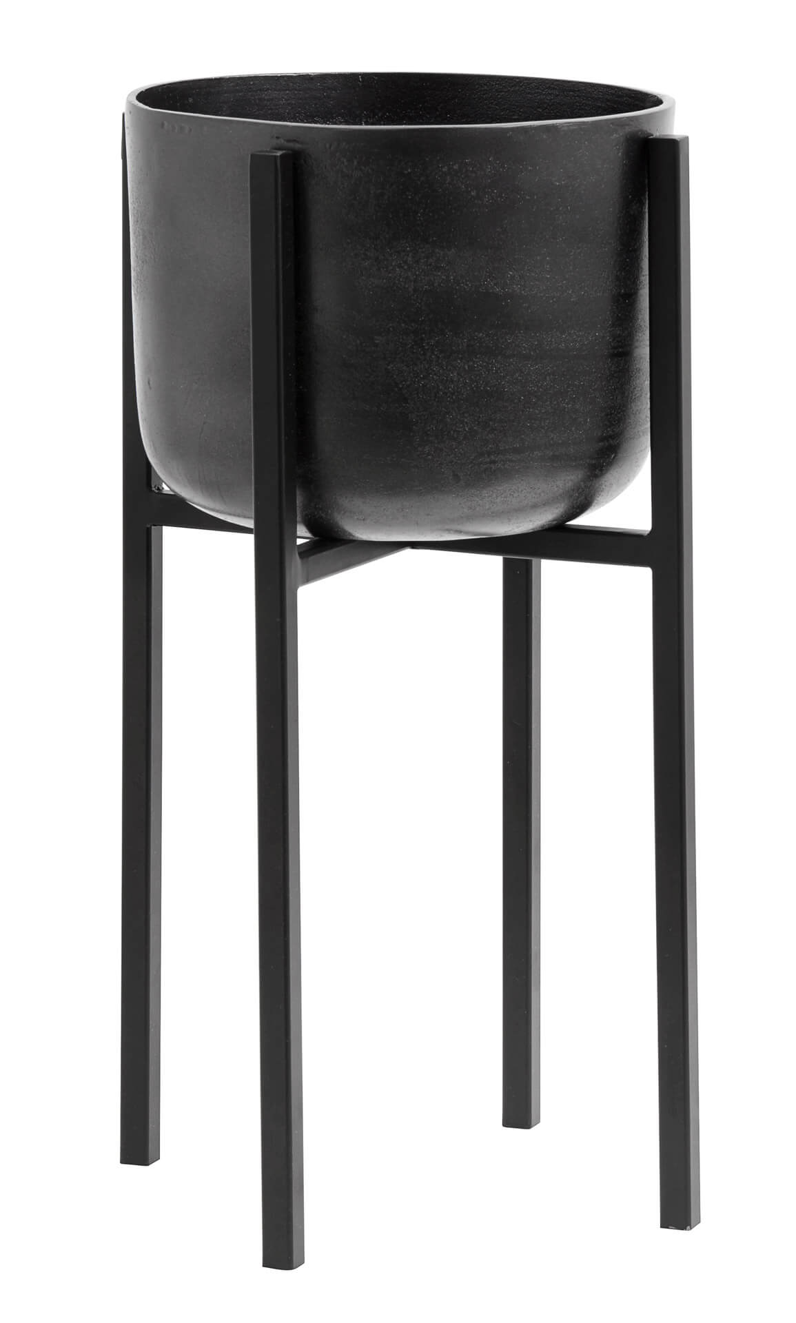 Nordal Planter On Stand Small Black Oxidised