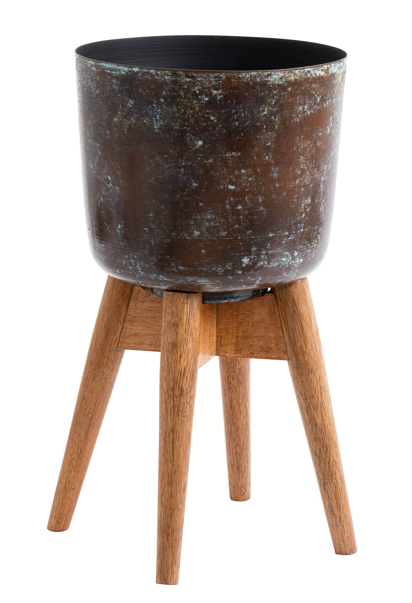 Nordal Planter On Stand Medium Stained/Wood