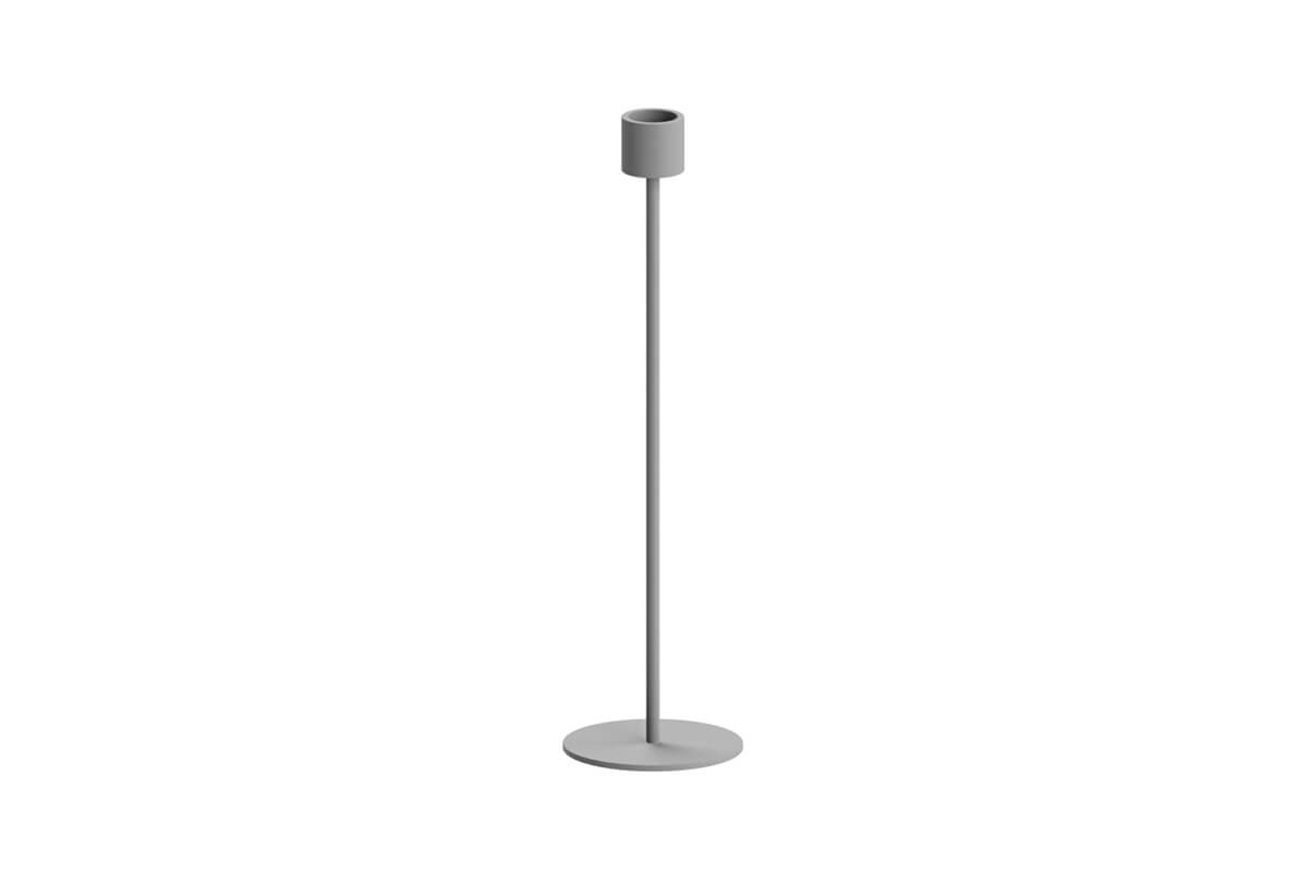 Cooee Design Large Candlestick Grey
