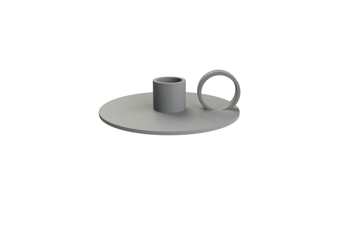 Cooee Design Candlestick Loop Grey