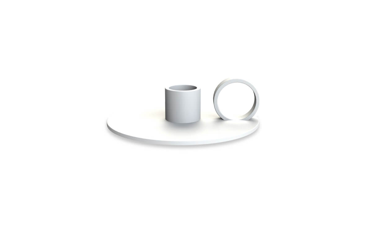 Cooee Design Candlestick Loop White