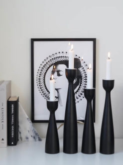 Coming Home Black Urban Candlestick 33cm