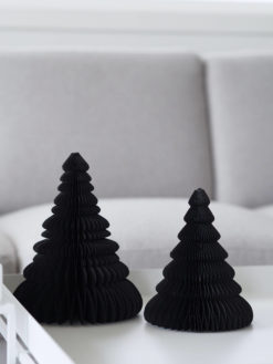 Coming Home Paper Christmas Tree 20cm Black