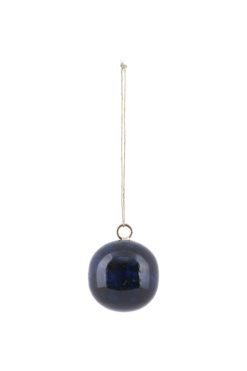 House Doctor Ornament Effects Blue/Petrol Marble 4cm