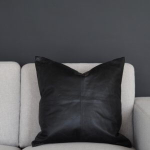 Coming Home Crunch Cushion Cover Black Leather