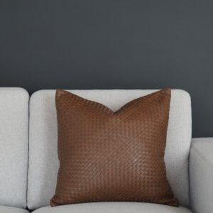 Coming Home Finesse Cushion Cover Tan Leather