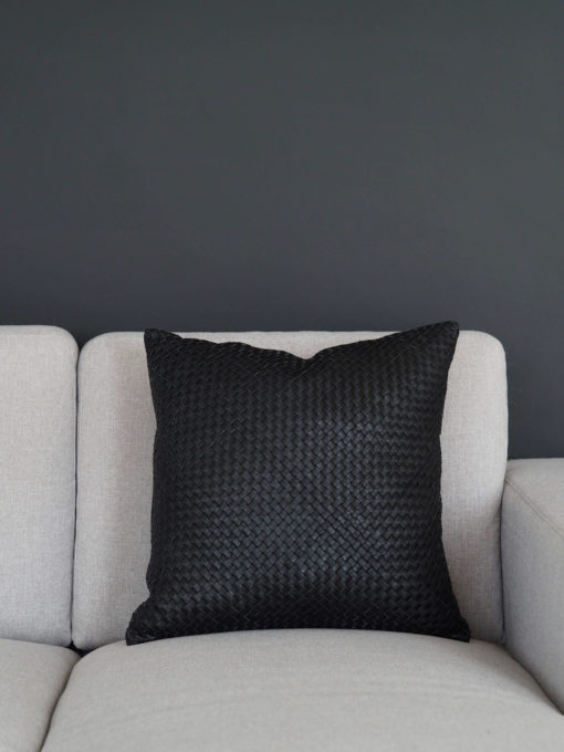 Coming Home Finesse Cushion Cover Black Leather