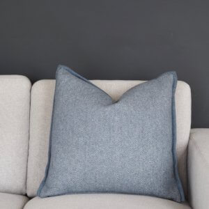 Coming Home Kira Cushion Cover Blue Wool