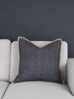 Coming Home Kira Cushion Cover Dark Grey Wool