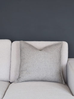 Coming Home Kira Cushion Cover Light Grey Wool