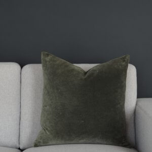 Coming Home Madrid Cushion Cover Olive Velvet