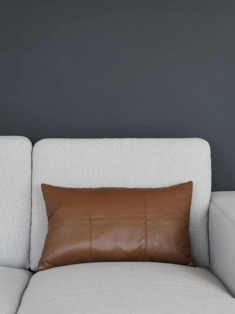 Coming Home Nappa Cushion Cover Tan Leather