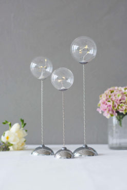 Sirius Trio Balls Pure Clear Lights – set of 3