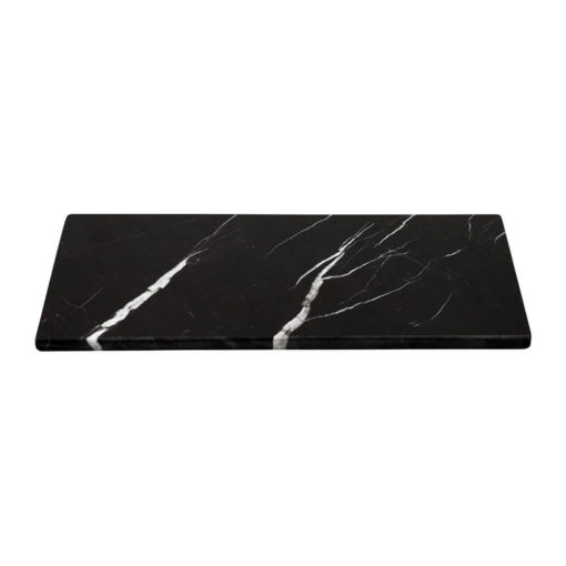 Stoned Rectangle Marble Serving Board Black Large