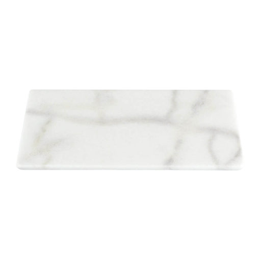 Stoned Rectangle Marble Serving Board White Large