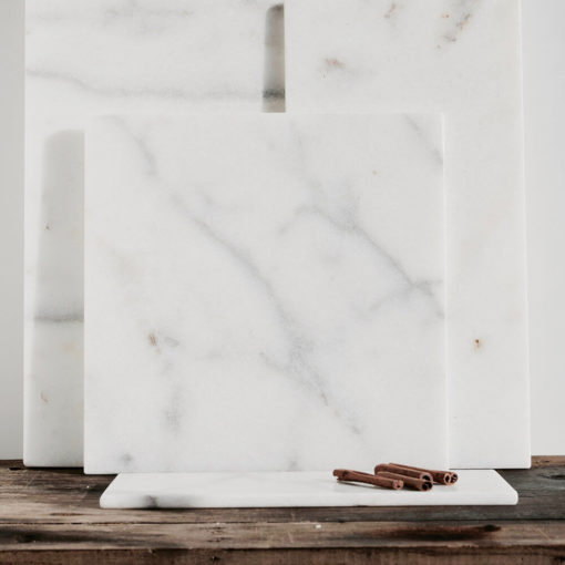Stoned Square Marble Serving Board Black